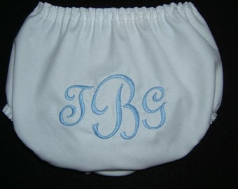 Personalized Newborn Boy Diaper Cover Monogrammed FRN