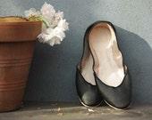 soft leather ballet flats. A La Nuit. all sizes