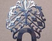 Vintage hair comb Victorian sterling silver hair accessory