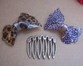 Vintage hair barrette 3 animal skin hair accessory hair comb hair slide hair clip hair jewelry hair ornament headdress(H)