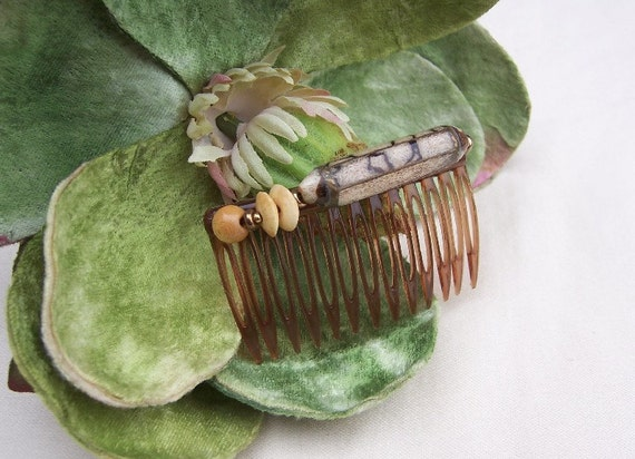Vintage hair comb Miriam Haskell (unsigned) hair accessory hair pin hair slide