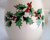 Spode Christmas Tree Collection Egg Shaped Salt and Pepper Shakers