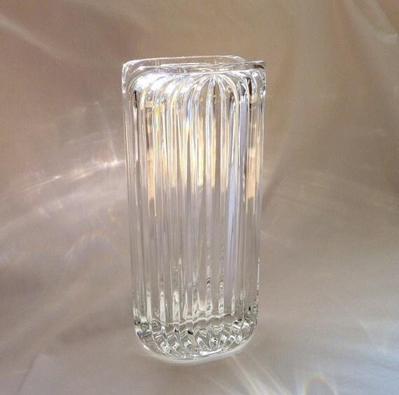 villeroy boch crystal flower vase raised ridge design. Black Bedroom Furniture Sets. Home Design Ideas
