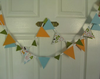 Colorful Numbers  Banner----Teachers Gift   Garland   8 feet long
