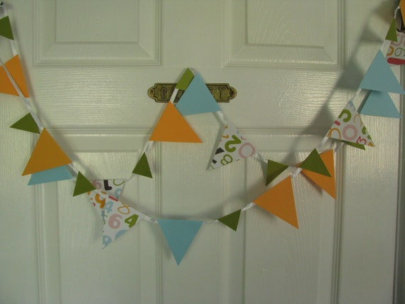 Colorful Numbers  Banner----Teacher  Party Gift   Garland   8 feet long