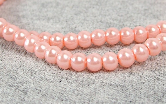 Medium Pink 4mm Glass Pearls