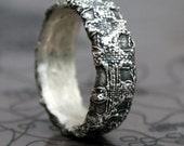 textured silver ring - made to order