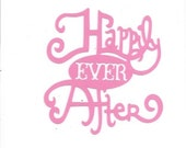 Happily ever after word silhouette