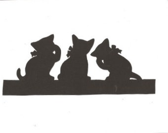 The Three little kittens Mother Goose collection  silhouette