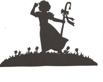 Little Bo Peep Mother Goose collection silhouette