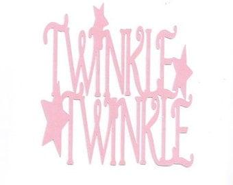 Twinkle twinkle word silhouette
