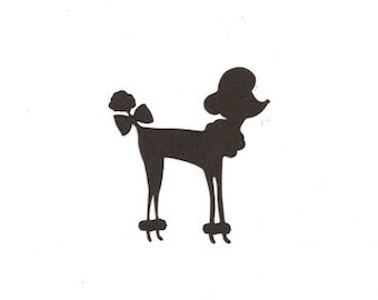 Small French Poodle  silhouette