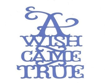 A wish came true  word silhouette