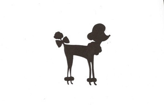 Poodle Head Silhouette Small french poodle silhouette