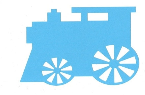 Train  silhouettes set of seven