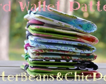 Card Wallet.  PDF Pattern.  This is NOT a Finished Product. - - Make and Sell.