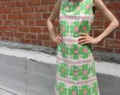 Vintage 60s Flower Power Daisy Dress S-M
