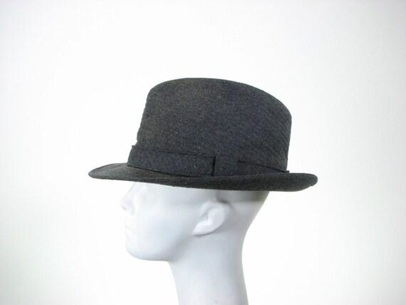 Mens 60s London Fog Grey Fedora Hat