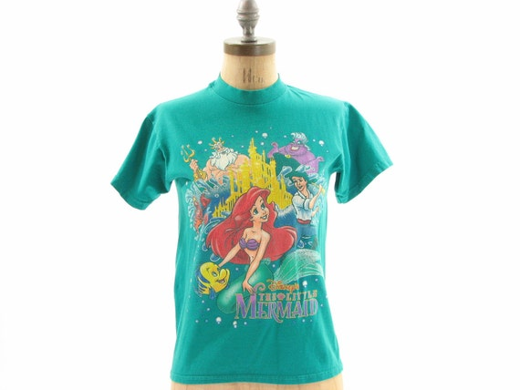 80s 90s Disneys Little Mermaid T Shirt XS