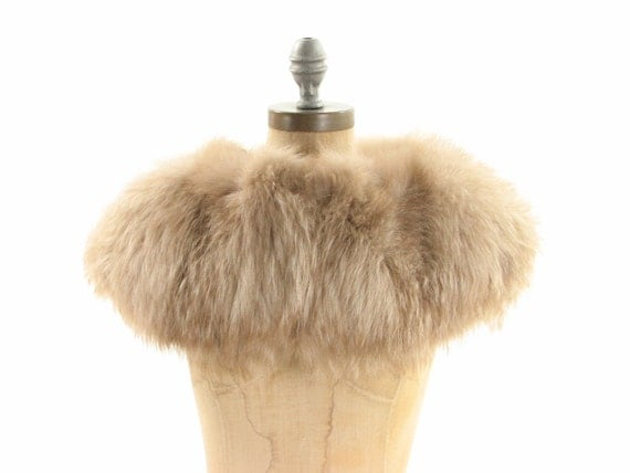 Lush Fox Fur Oversized Brown Winter Collar