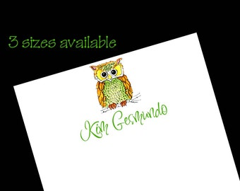 Personalized Owl Notepads - Owl Gift ~ 3 sizes