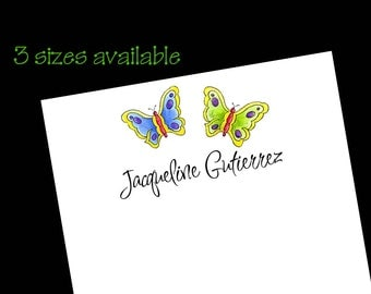 Personalized Butterfly Notepads - Butterfly Gift ~ 3 sizes