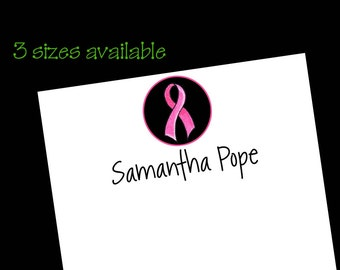 Personalized Breast Pink Ribbon Notepads - 3 sizes