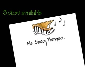 Personalized Piano Notepads - Music Teacher Gift ~ 3 sizes