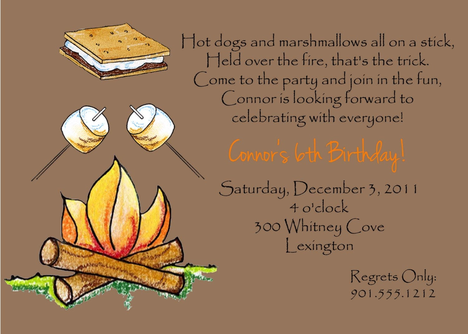 Bonfire Party Invitations as beautiful invitation template