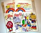 Rainbow Brite DELUXE Sticker Pack - 19 different stickers WOW