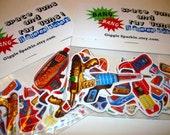 Bang Bang - Ray Guns and Space Guns - a retro super cool sticker set