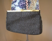 Vintage woven purse with chain