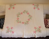 Beautiful Cottage chic table cover