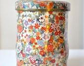 Vintage Floral Daher English Tea Tin