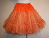 Tangerine Blasts - Late 1950s Tangerine Orange Double Layer Crinoline/Petticoat