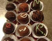 Dark and Milk Chocolate Truffles 12 Pc.
