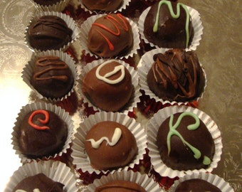 Dark and Milk Chocolate Truffles 12 Pc.