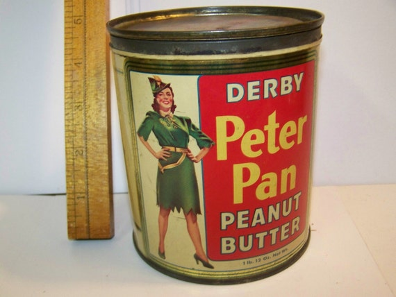 reserved RESERVED Vintage Derby Peter Pan peanut butter tin Chicago Illinois