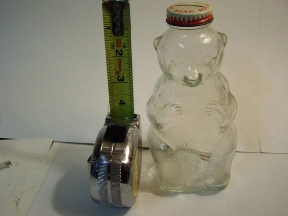 Vintage snowcrest bank bottle, snow crest bear bottle