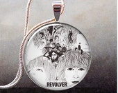 The Beatles Revolver photo pendant, resin pendant, Beatles necklace pendant, rock and roll