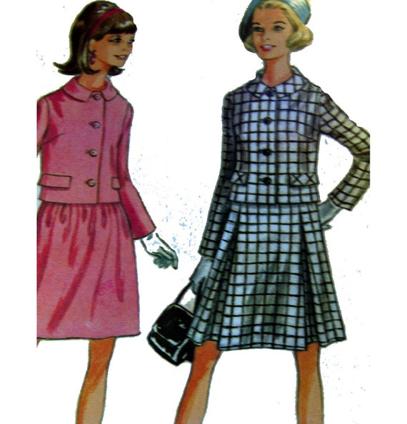 60s Vintage Suit Sewing Pattern Chanel By VintageCoreReStore