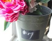 Chalkboard Label Metal Bucket
