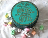 SALE Sweet Vintage Candy Tin, Teal, Mint