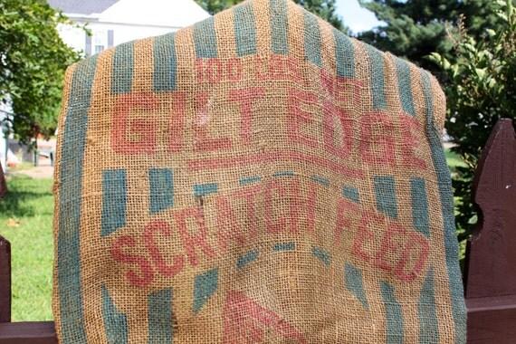 Striped Scratch Feed Bag