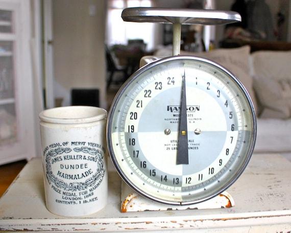 Farmhouse Vintage Scale-White, Silver, Black, Kitchen Decor