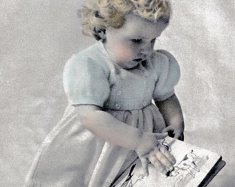 Moss Stitch Bolero Jacket - Vintage Vogue Baby Knitting Pattern - PDF Instant Download - PrettyPatternsPlease