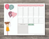 Weekly To Do Planner . Digital Collection . Mayi Carles