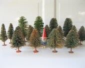 Vintage Bottle Brush Forest, Listing for Four, Entire Set Available, Christmas Decor, from Tessiemay