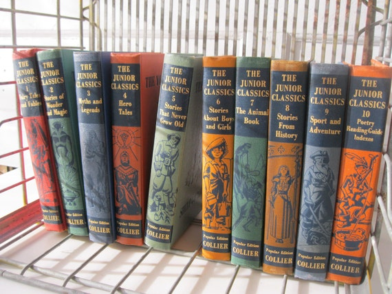 Vintage Childrens Books /10 Volume/ Illustrated Classics/ FREE SHIPPING/ The Young Folks' Shelf of Books  from Tessiemay