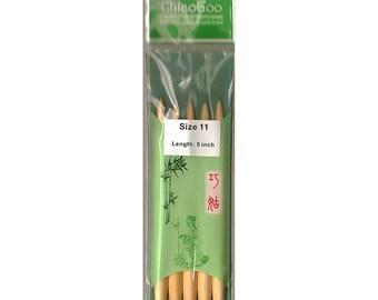 1015-11 (8.0mm) ChiaoGoo DPN 5 Inch Size 11 Bamboo
